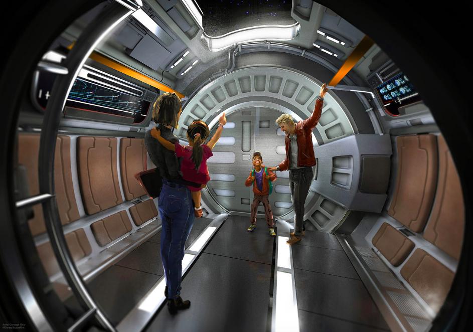 Launch pod at Star Wars: Galactic Starcruiser