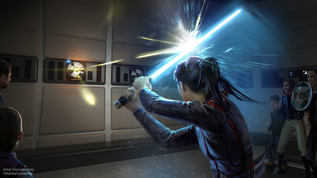 Lightsaber training at Star Wars: Galactic Starcruiser