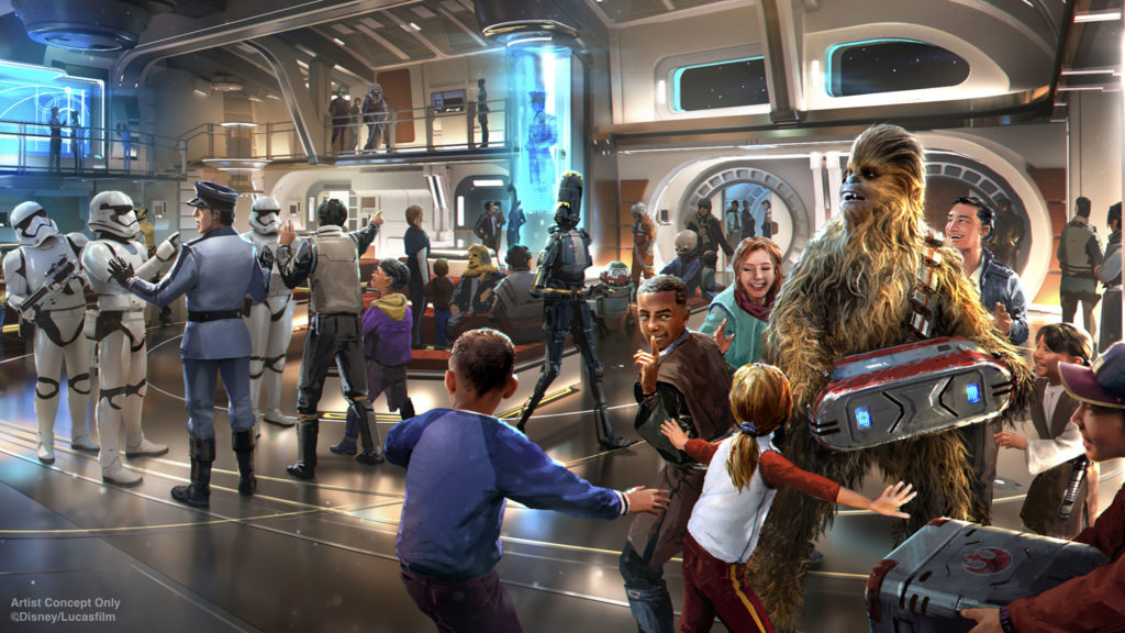 Star Wars: Galactic Starcruiser's atrium