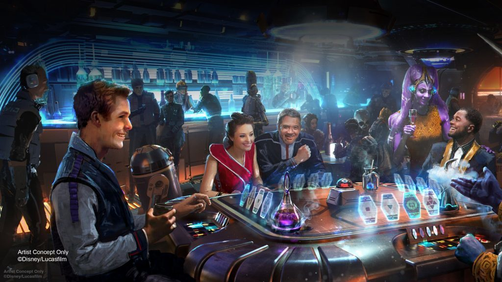 The Silver C Lounge at Star Wars: Galactic Starcruiser
