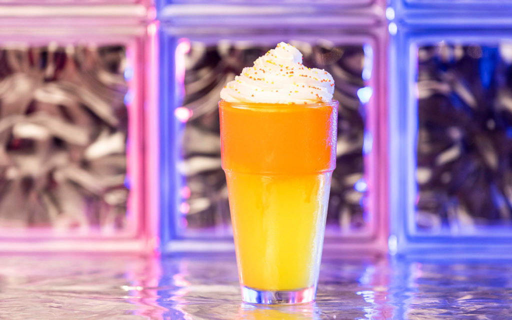 Candy Corn frozen drink at Halloween Horror Nights 2019