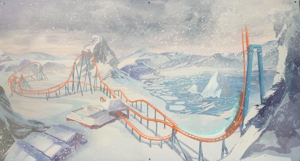 Ice Breaker's track layout at SeaWorld Orlando