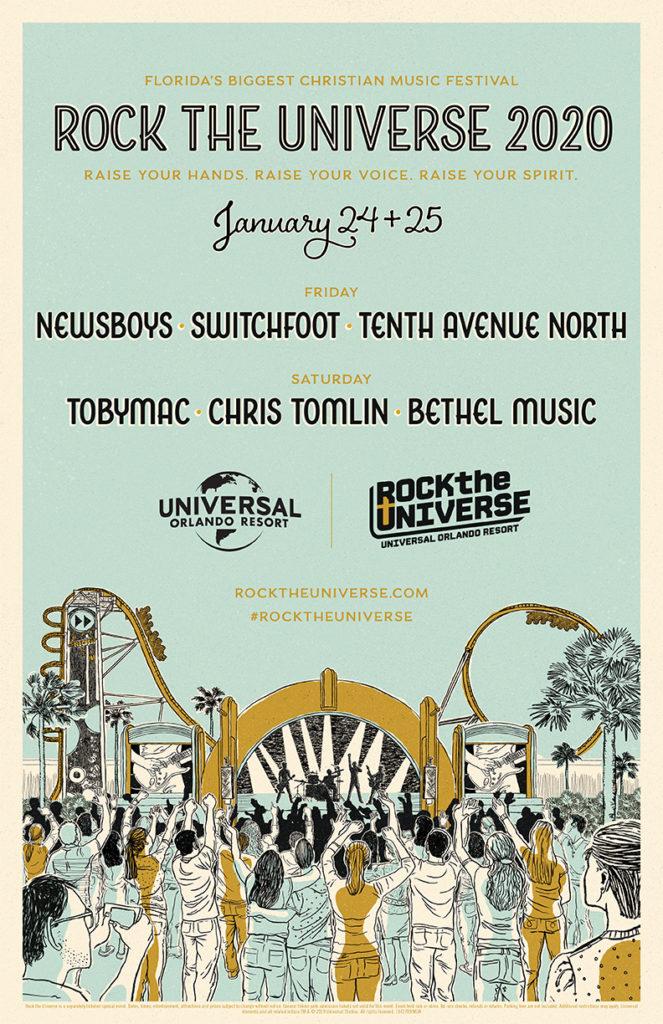 Rock the Universe 2020 concert lineup