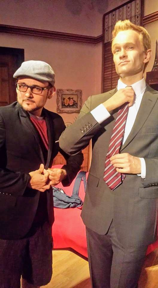 Suiting up with Neil Patrick Harris at Madame Tussauds