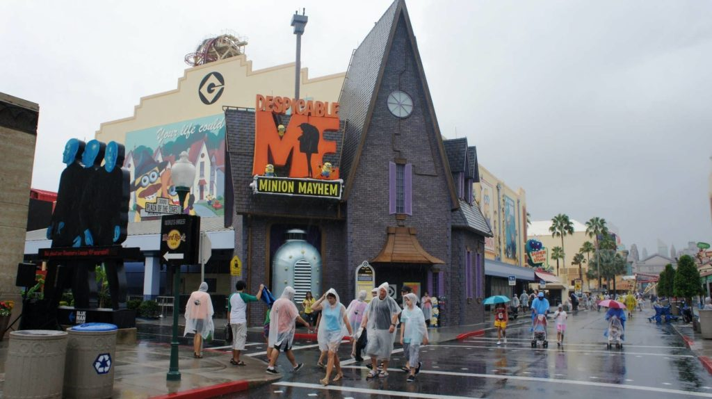 A rainy day at Universal Orlando Resort