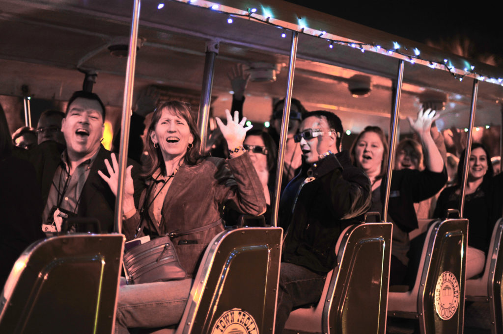 Night-time trolley tours in St. Augstine