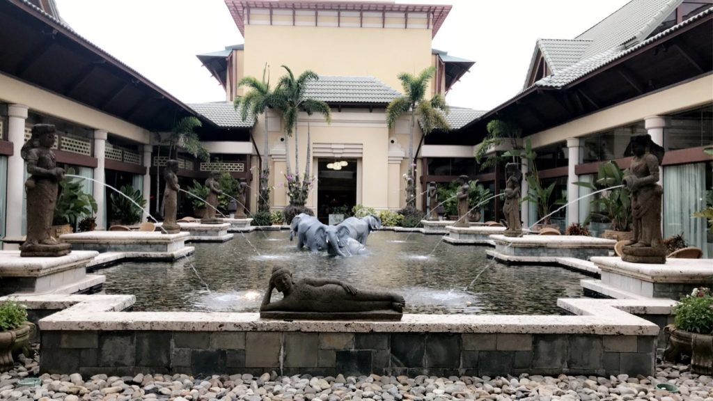 The Serenity Fountain at Royal Pacific Resort