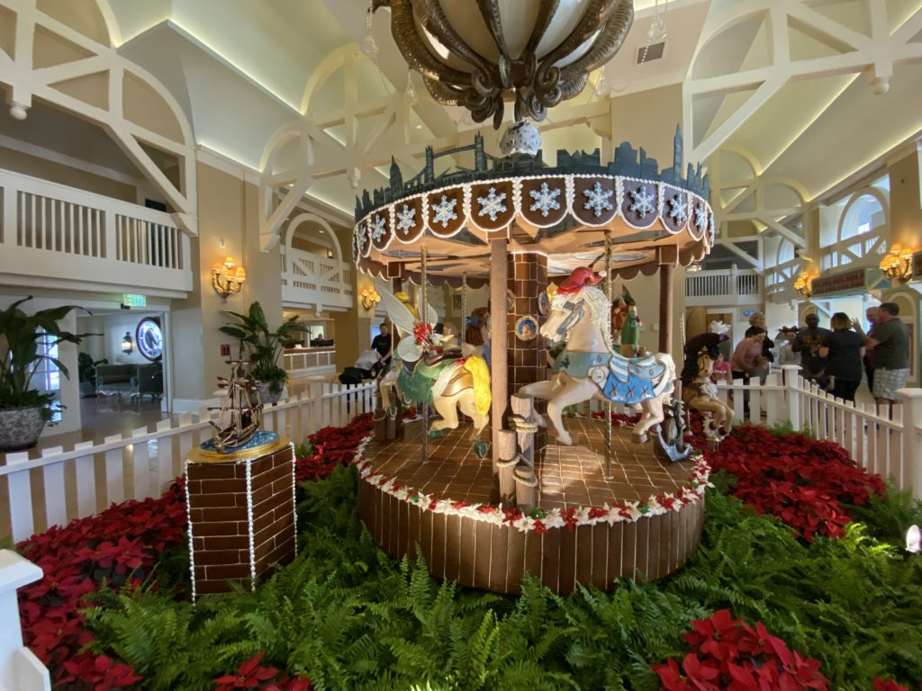 Disney's Beach Club's gingerbread carousel