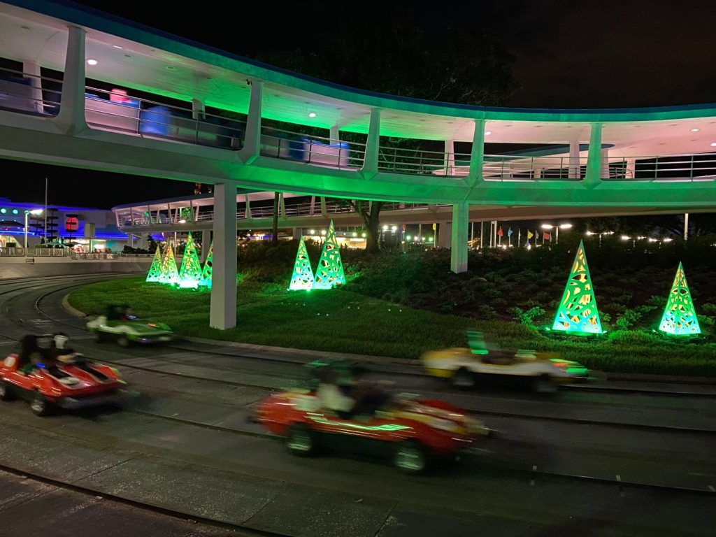 Tomorrowland Speedway at Mickey's Very Merry Christmas Party 2019 1