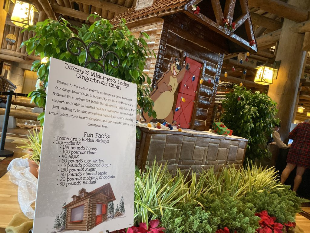 Disney's Wilderness Lodge's gingerbread cabin