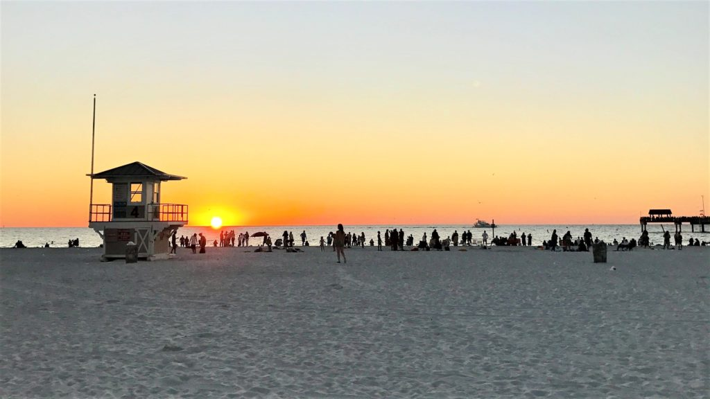 Clearwater Beach at sunset