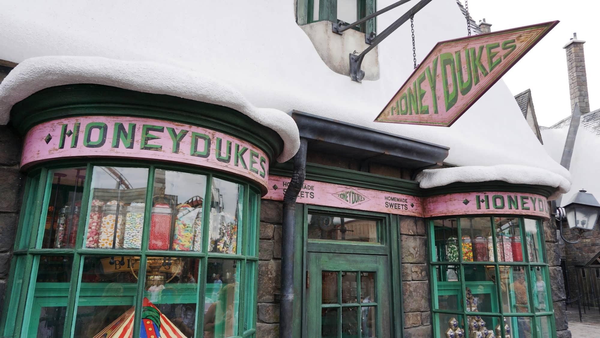Honeydukes candy shop inside The Wizarding World of Harry Potter - Hogsmeade