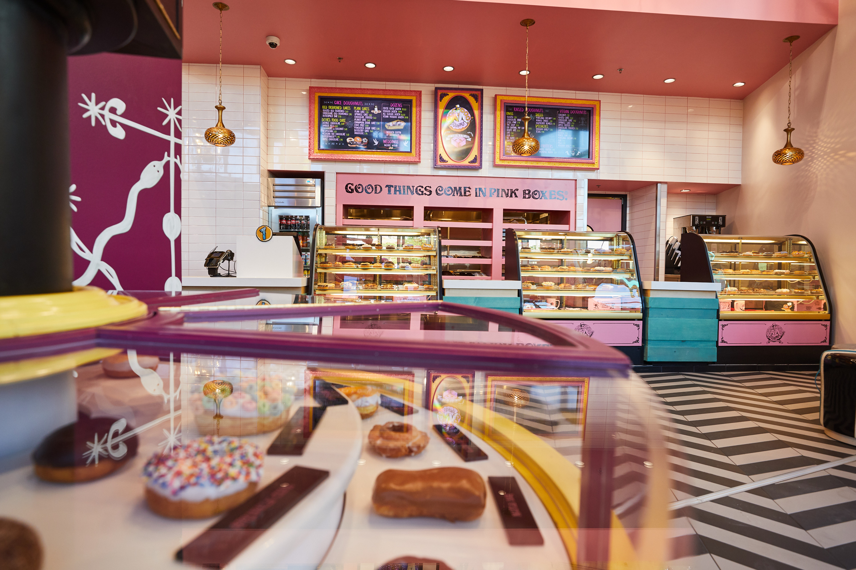 Enjoy a late night snack at Voodoo Doughnut.