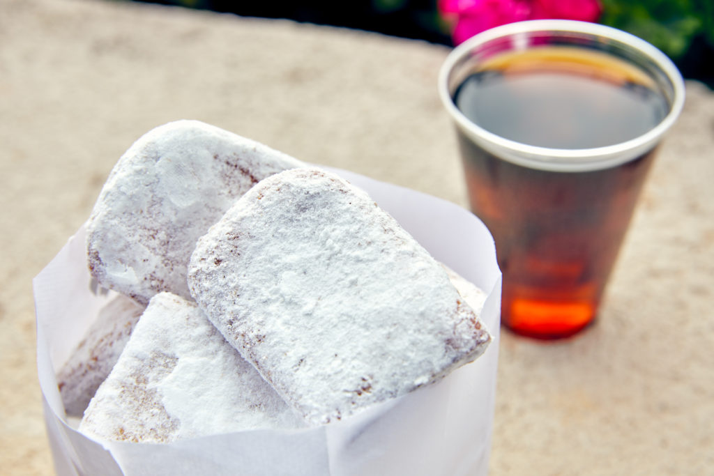 Beignets and Hoodoo Cold Brew at Universal's Mardi Gras 2020