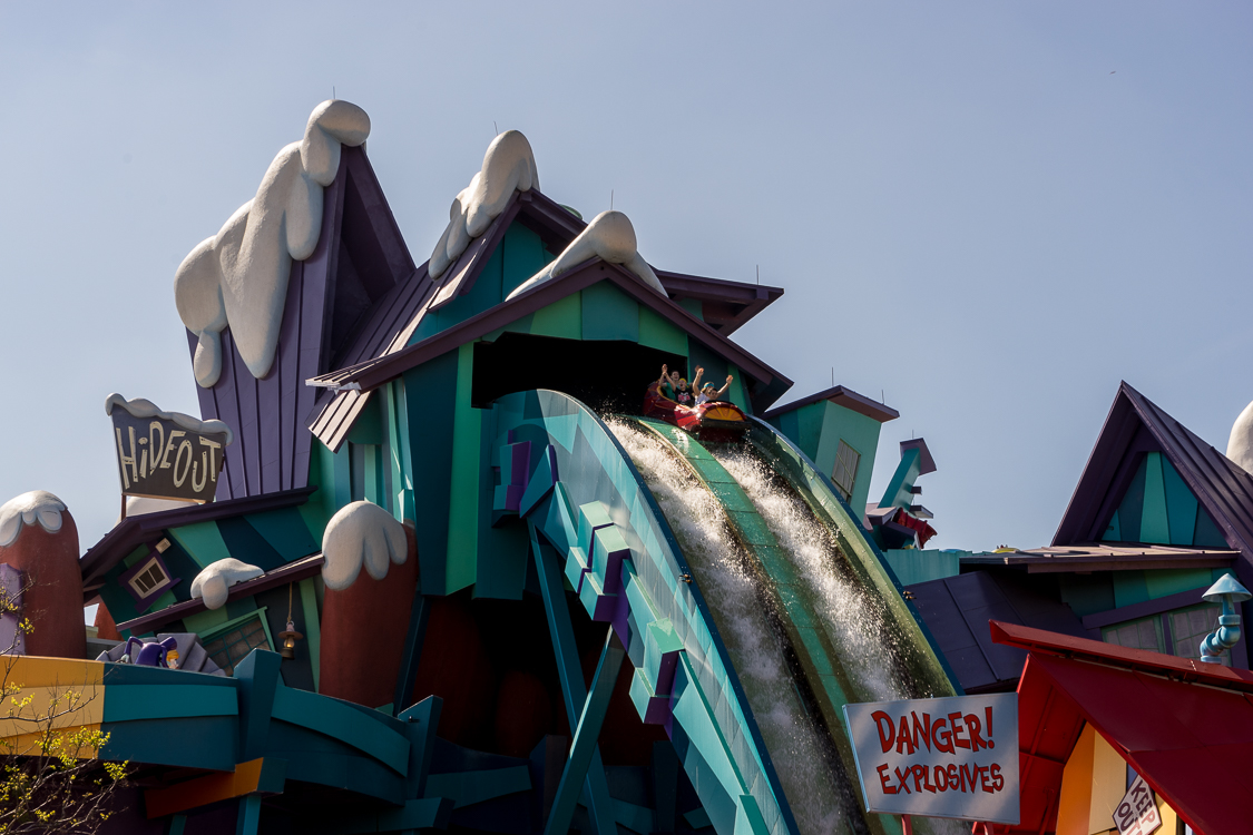 Dropping from the top of Ripsaw Falls.