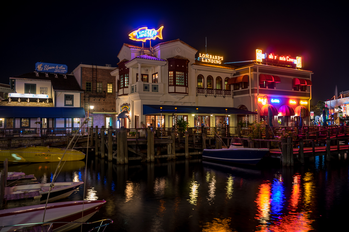 Lombard's Seafood Grille at night