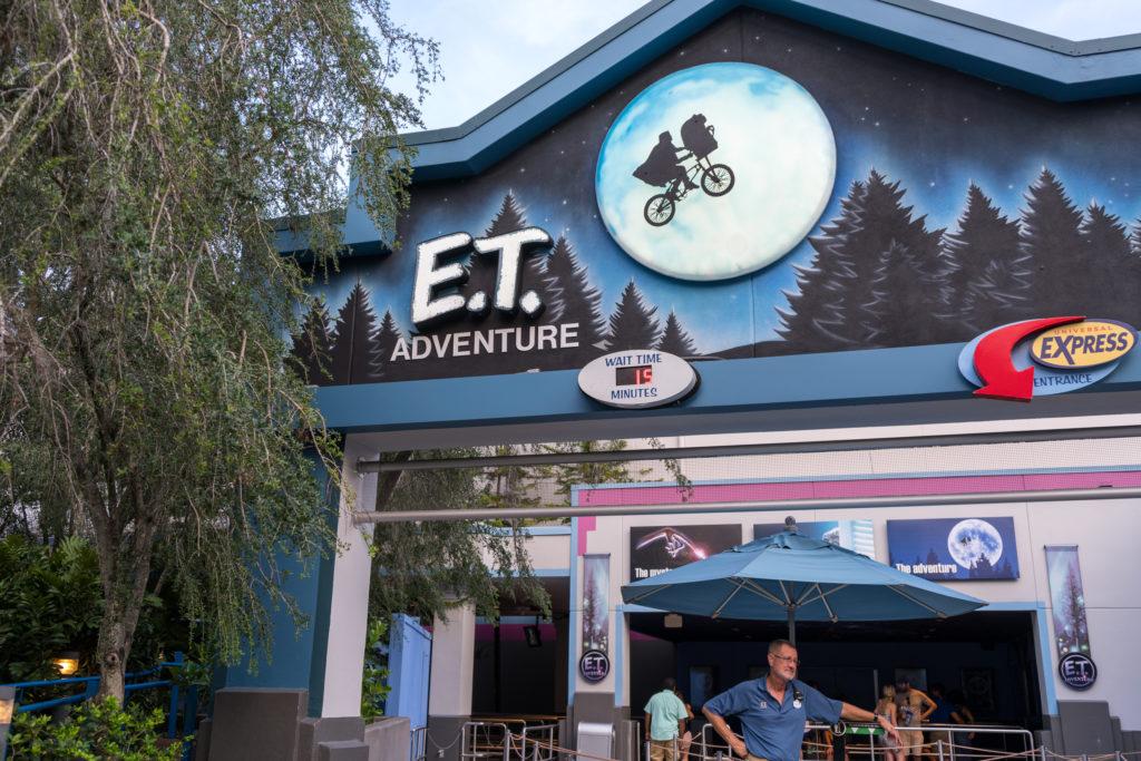 E.T. Adventure entrance.