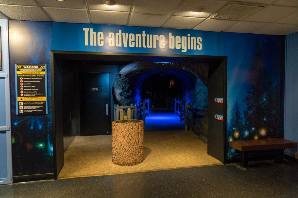 E.T. Adventure queue entrance.