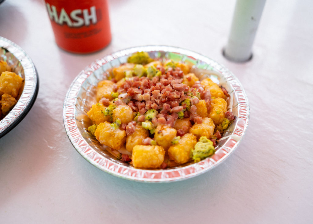 The Green Eggs & Ham Tots at Green Eggs and Ham Cafe