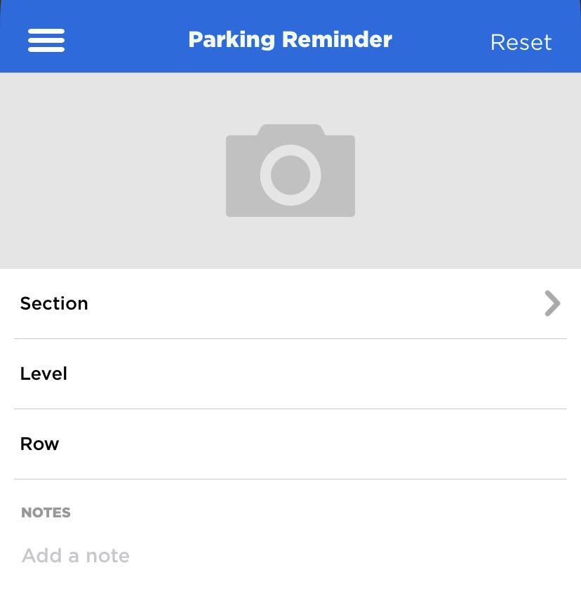 Universal Orlando mobile app – parking reminder