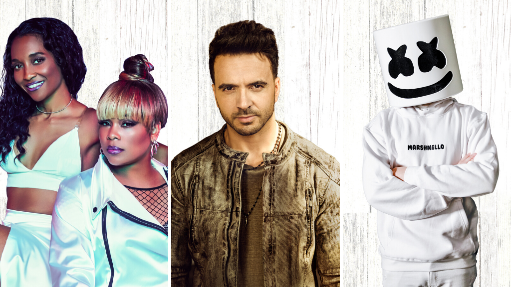 Marshmello, Luis Fonsi, and TLC at Universal Orlando's Mardi Gras