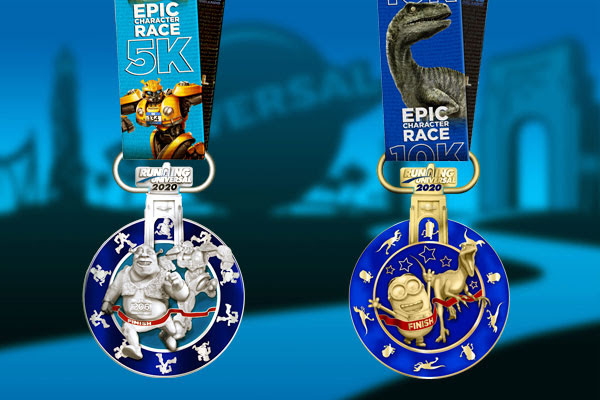 Epic Character Race 5K and 10K finisher medals