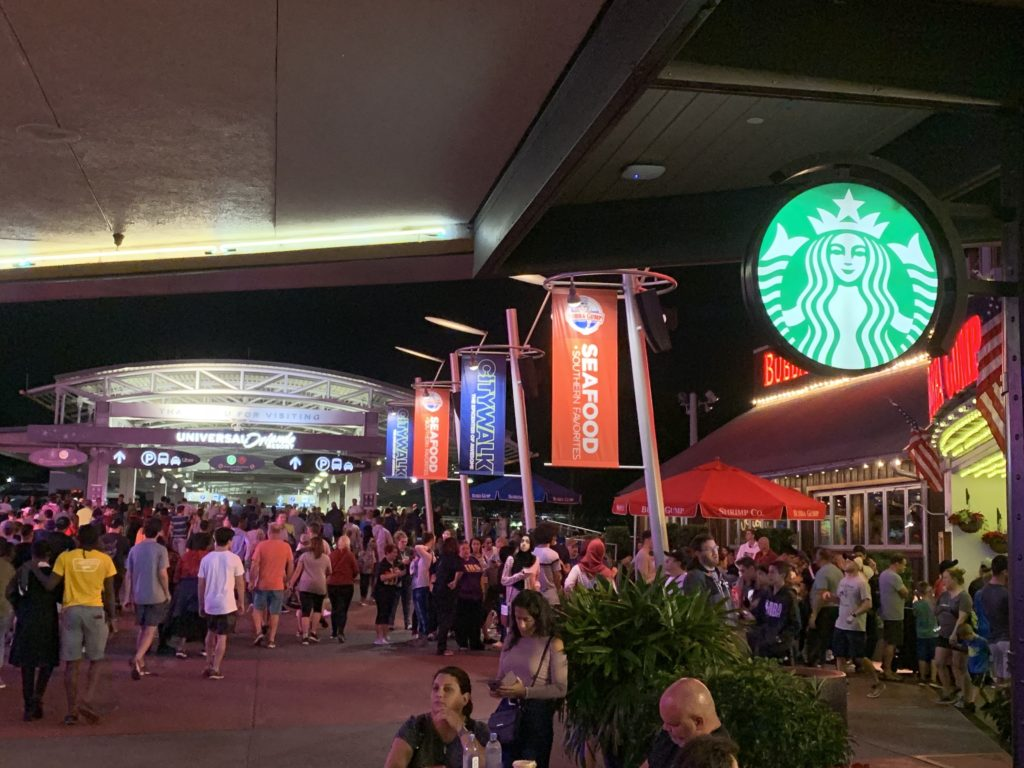Starbucks Coffee at the entrance of CityWalk