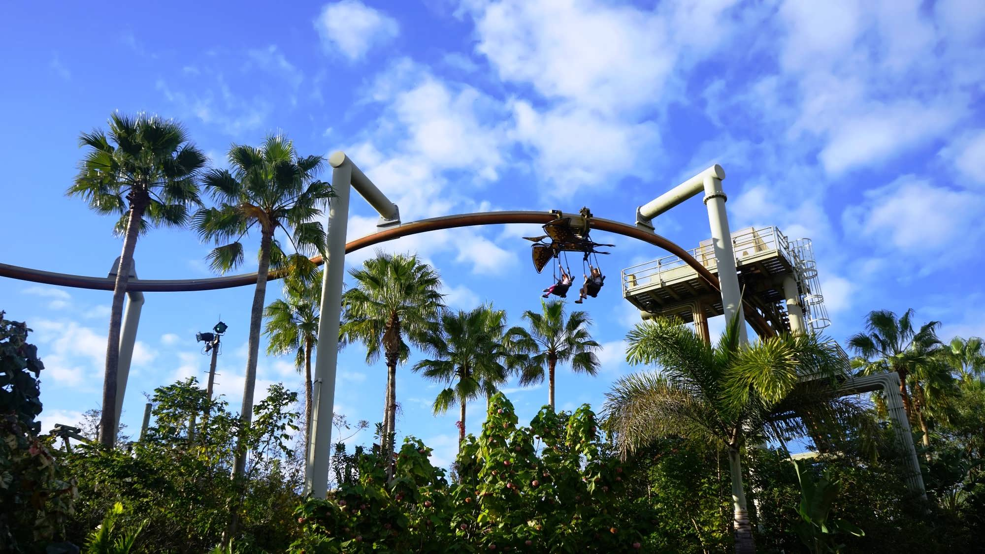 Soaring through the air on Pteranodon Flyers