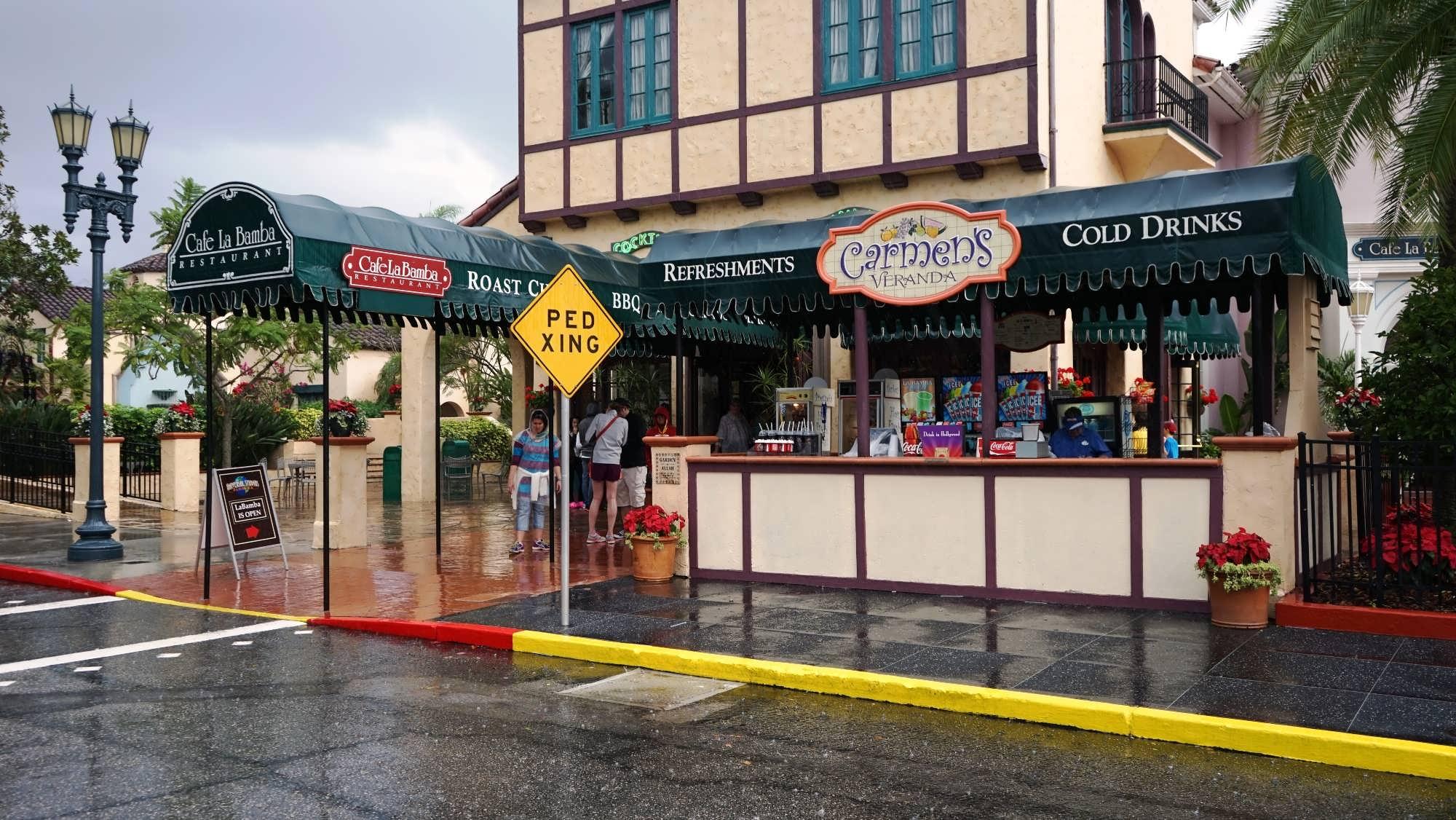 Carmen's Veranda sells snacks and drinks outside of Cafe La Bamba