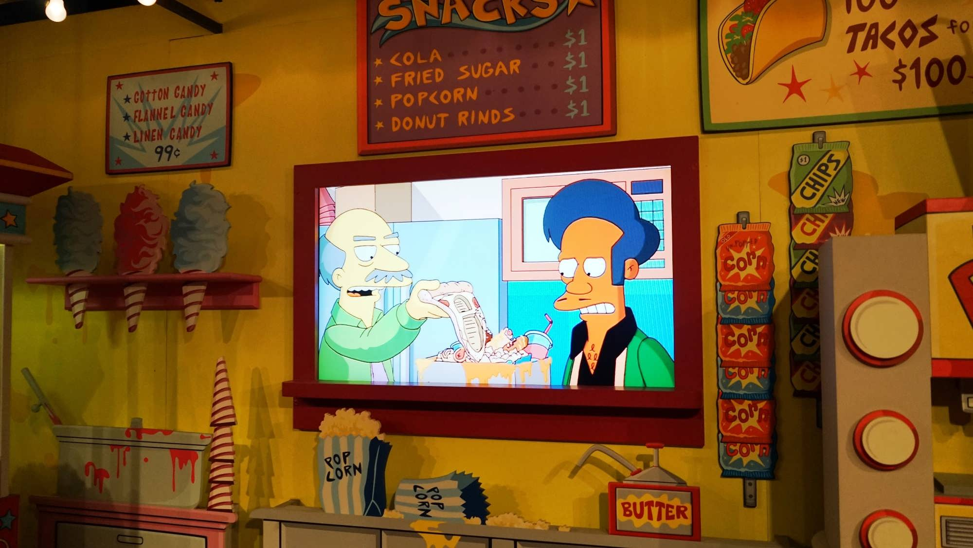 Inside The Simpsons Ride.