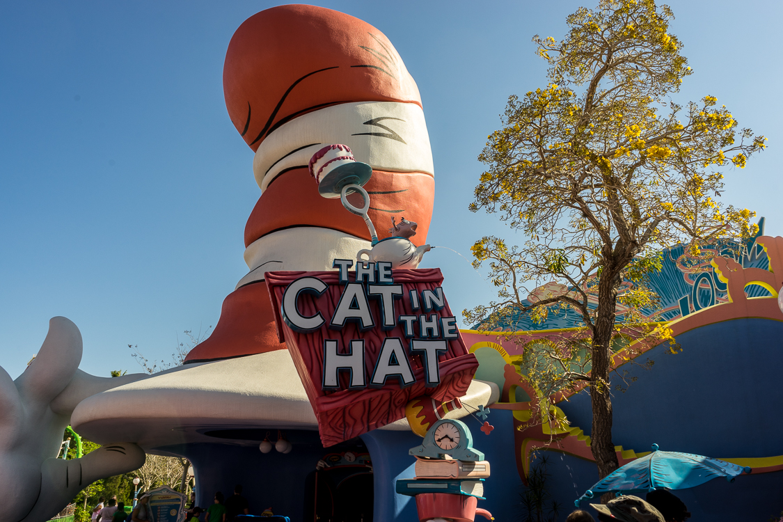 The Cat in the Hat ride entrance