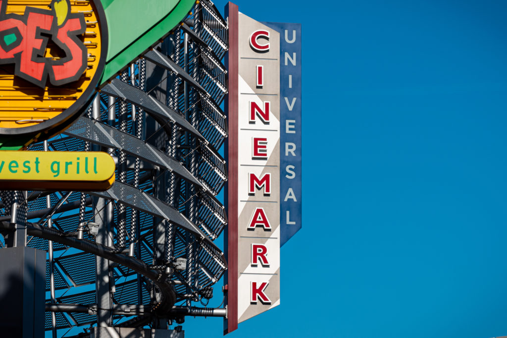 Universal Cinemark signage at CityWalk