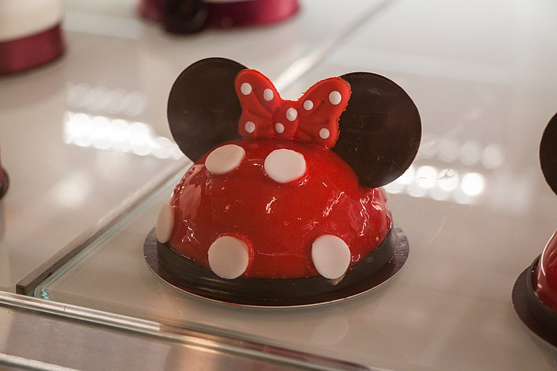 A Minnie Cake at Amorette's Patisserie in Disney Springs