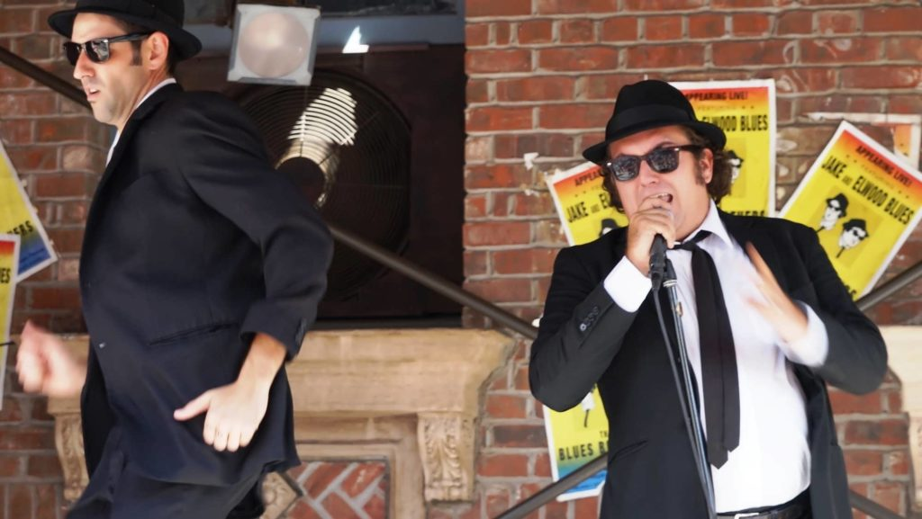 The Blues Brothers in action