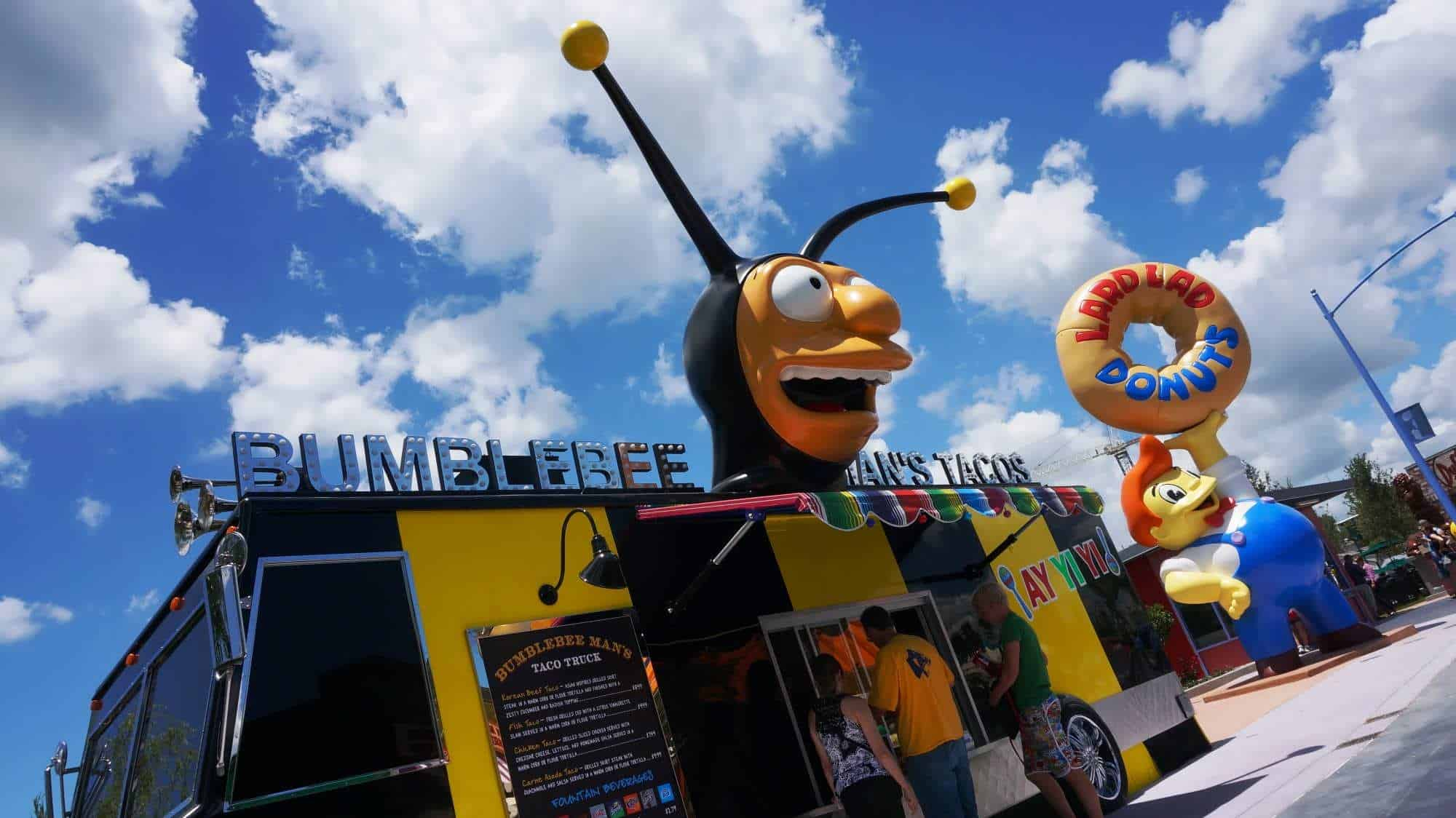 Bumblebee Man's Taco Truck in Springfield: Home of the Simpsons, Universal Studios Florida