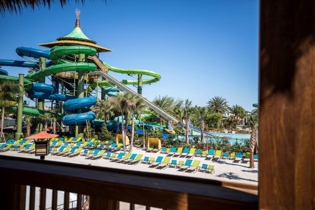 View of the tubes at Volcano Bay