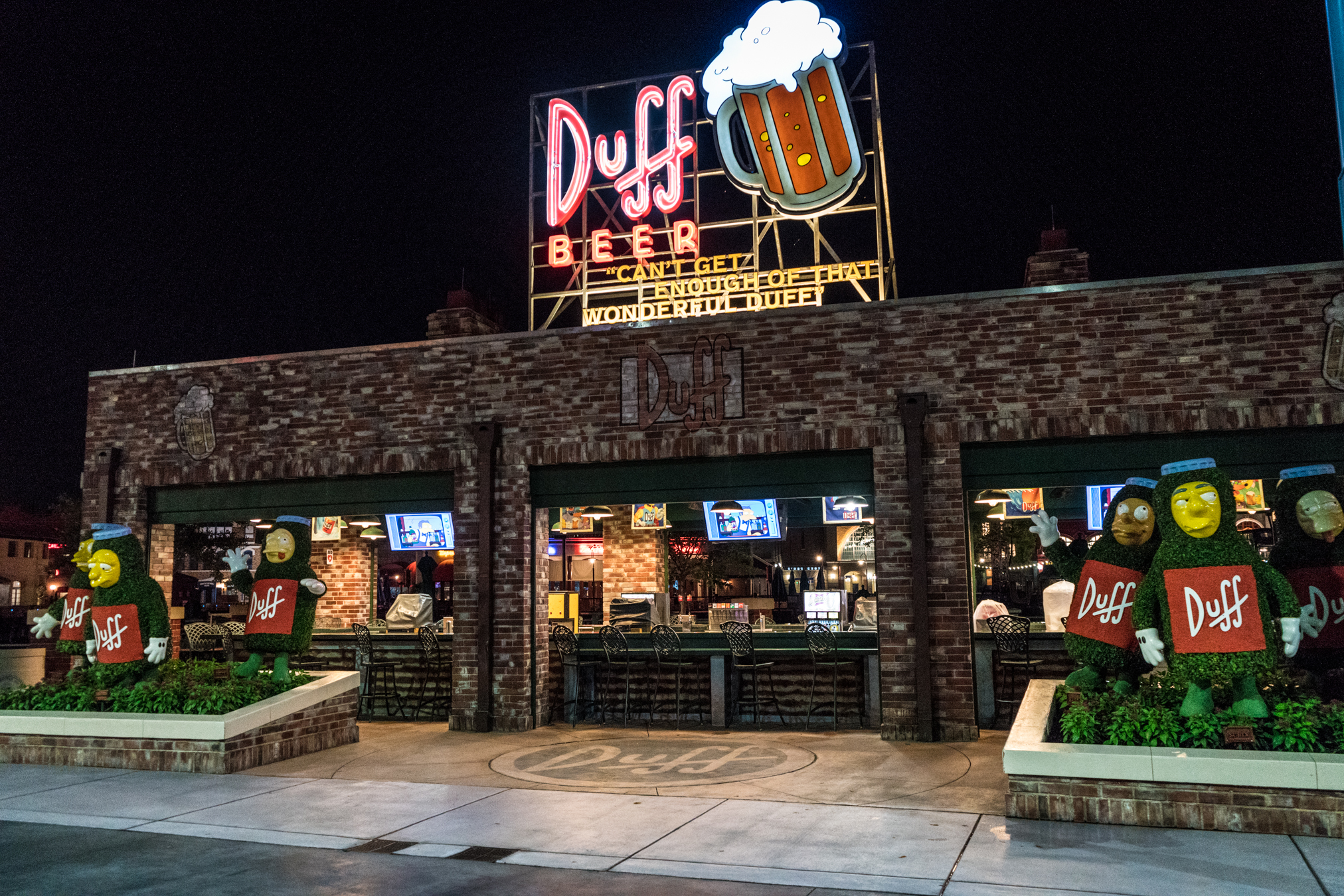 Duff Brewery at night