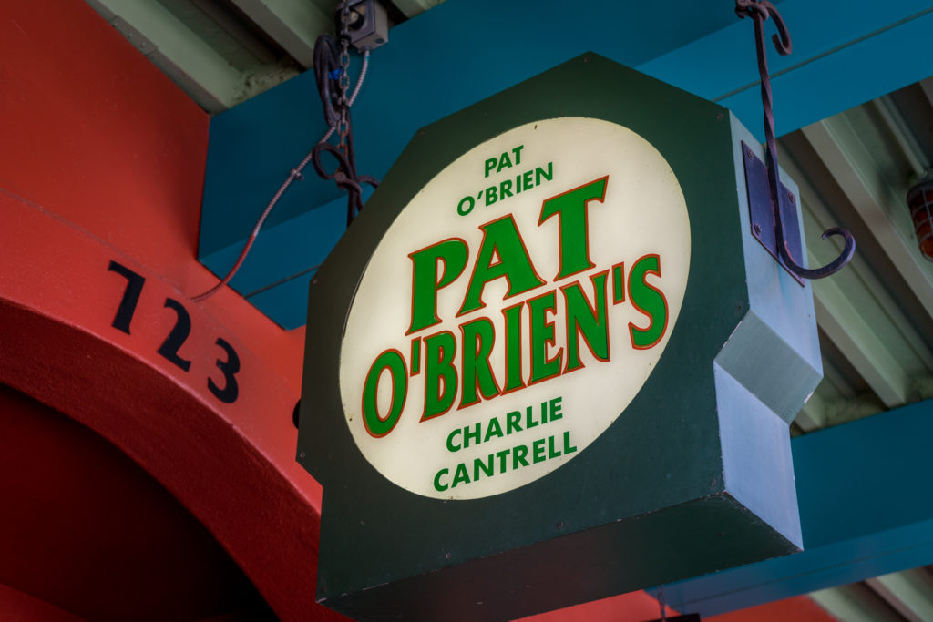 Pat O'Brien's signage