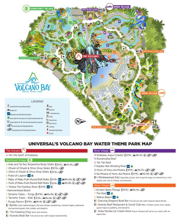 Volcano Bay's (new) map