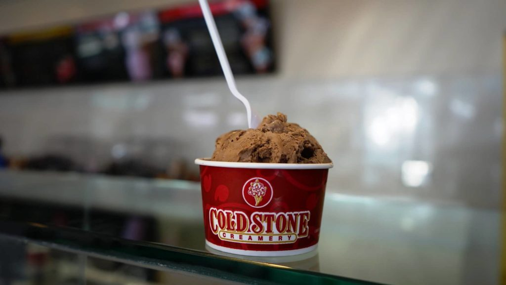 Cold Stone Creamery ice cream cup