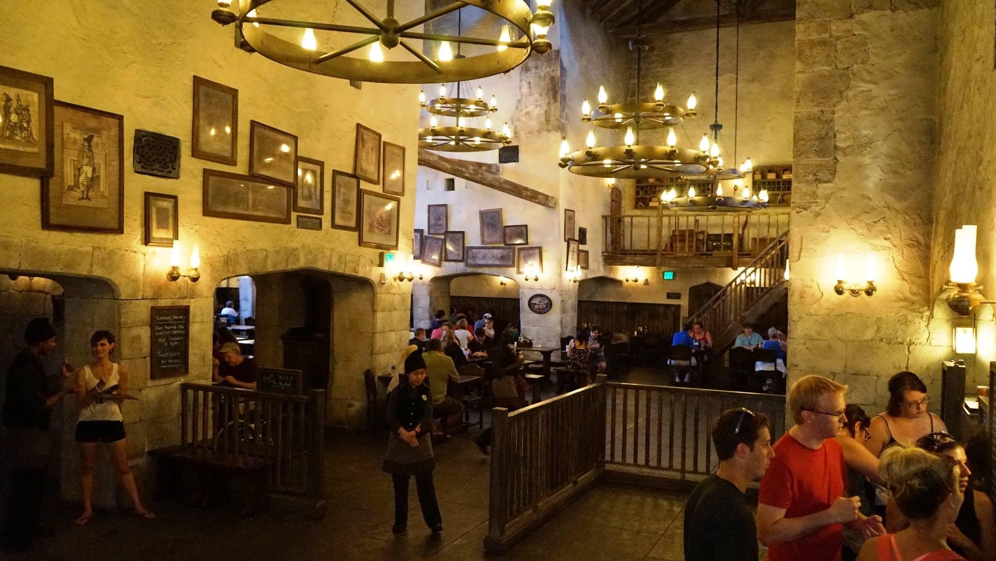 Interior of the Leaky Cauldron at Universal Studios Florida