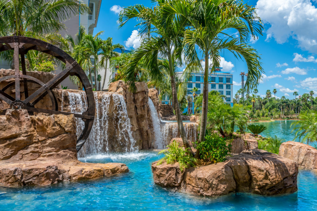 The view from Amatista Cookhouse at Loews Sapphire Falls Resort