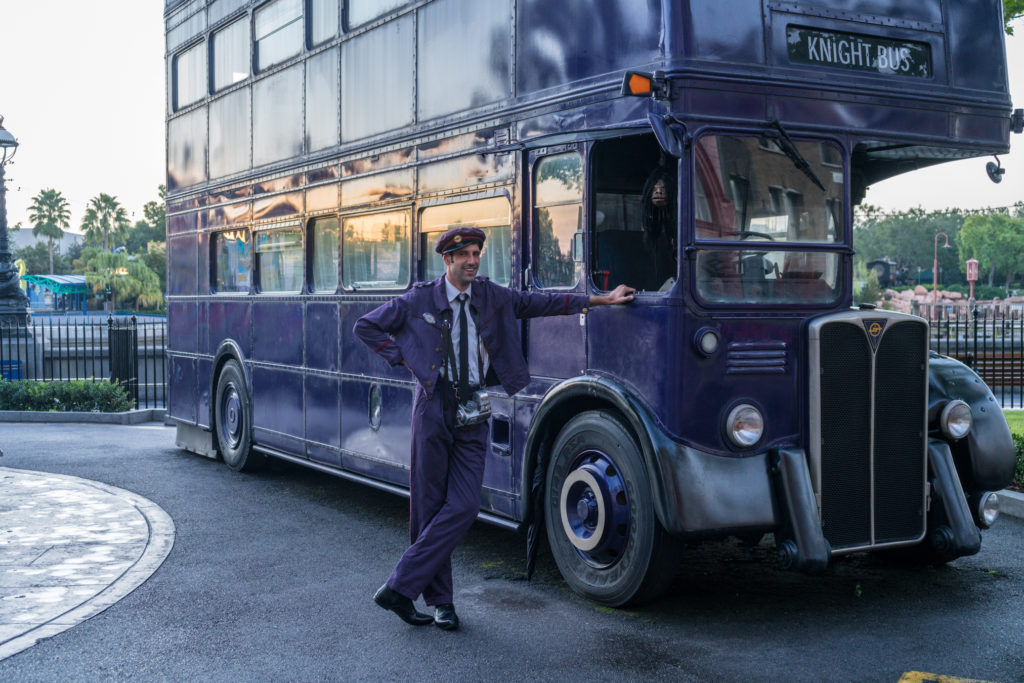The Knight Bus at the London Waterfront in Universal Studios Florida