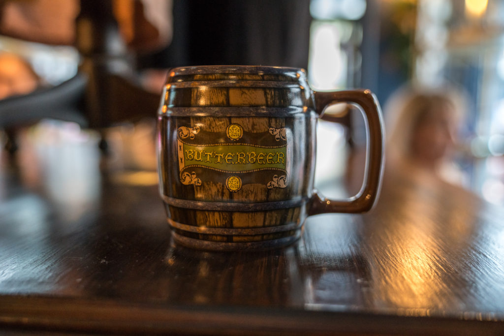 A Butterbeer mug from Wiseacre's in Horizont Alley
