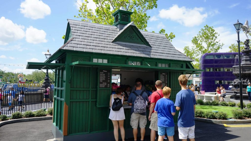 Snack hut at the London waterfront in Universal Studios Florida