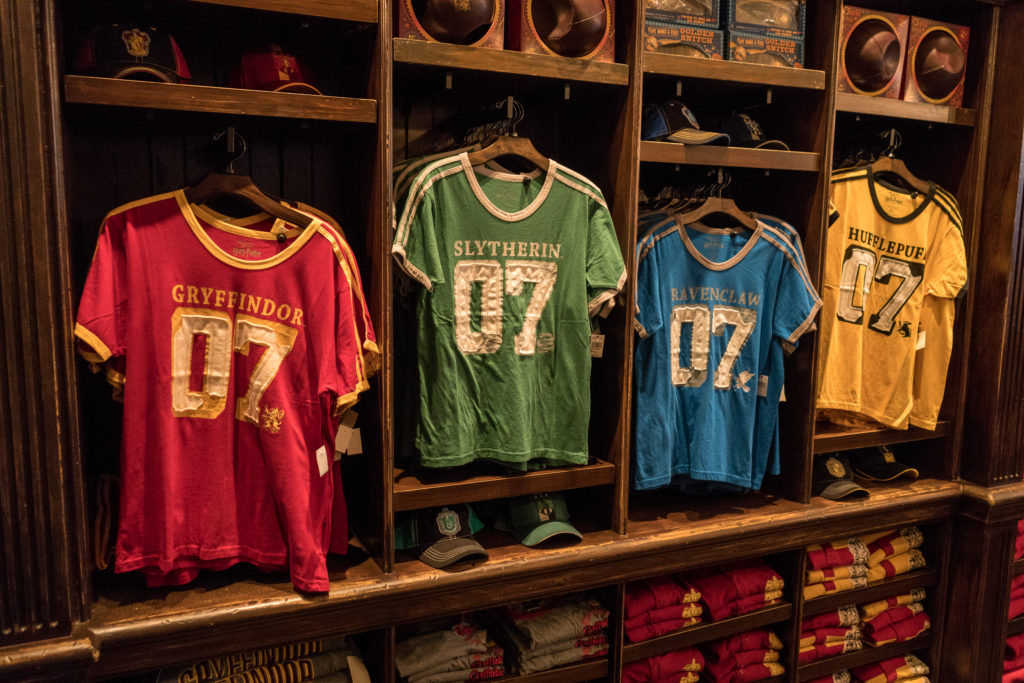 Apparel offered at Quality Quidditch Supplies in Diagon Alley