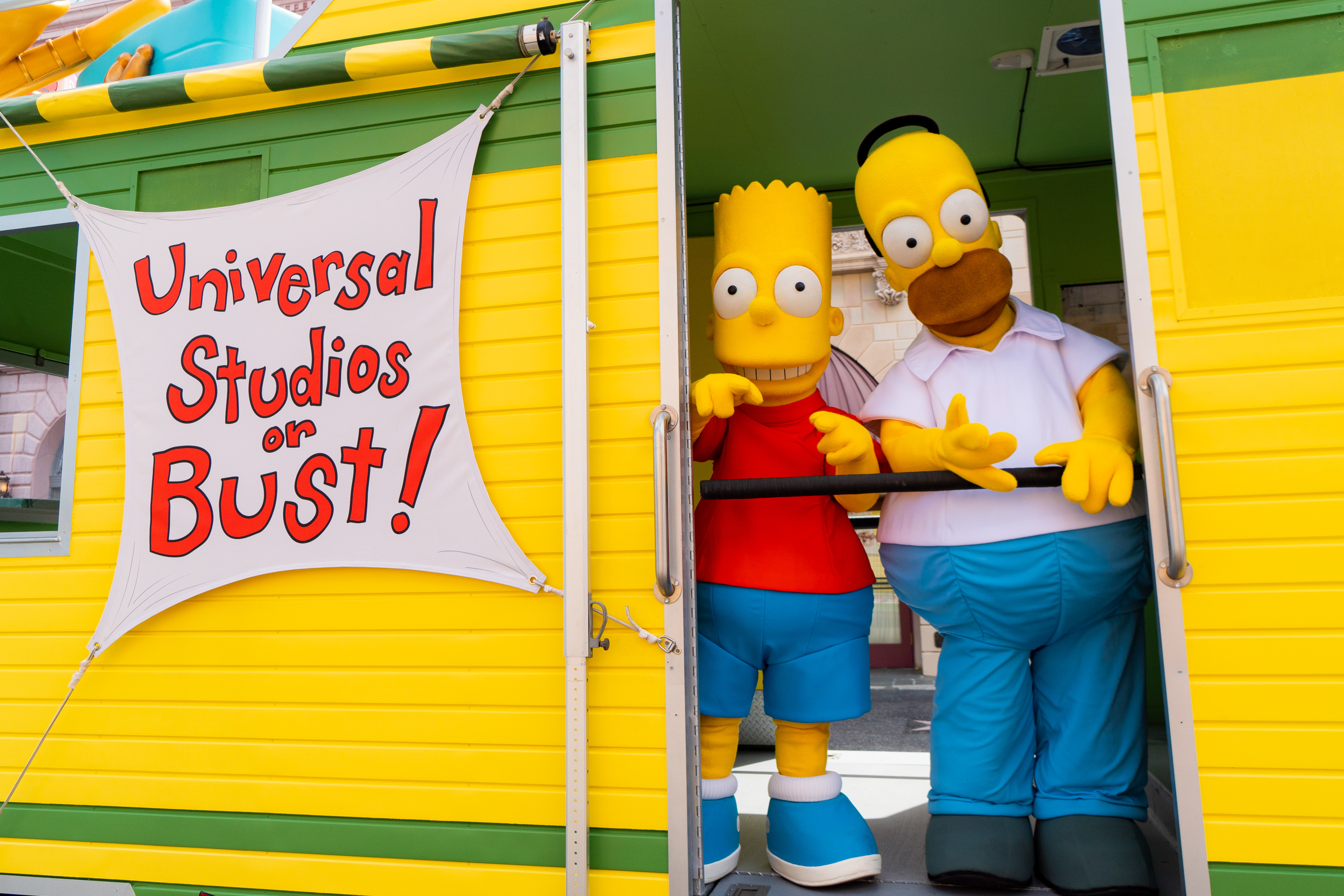 The Simpsons RV at Universal Studios Florida