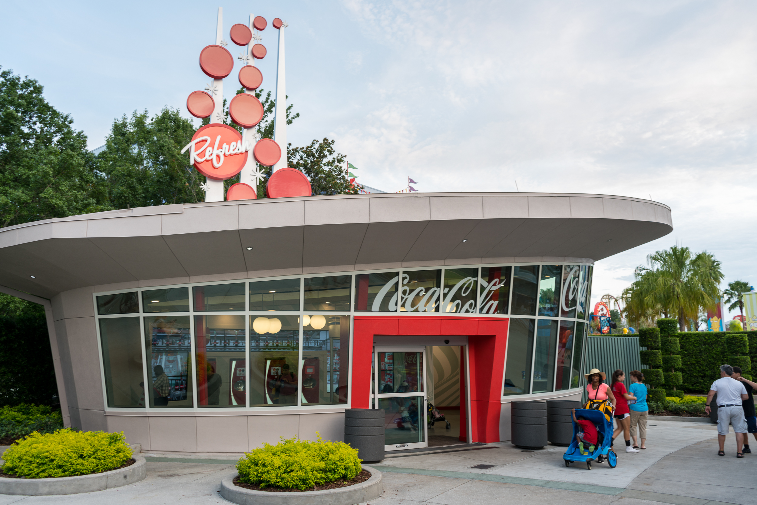 This small building houses several Coca-cola freestyle machines