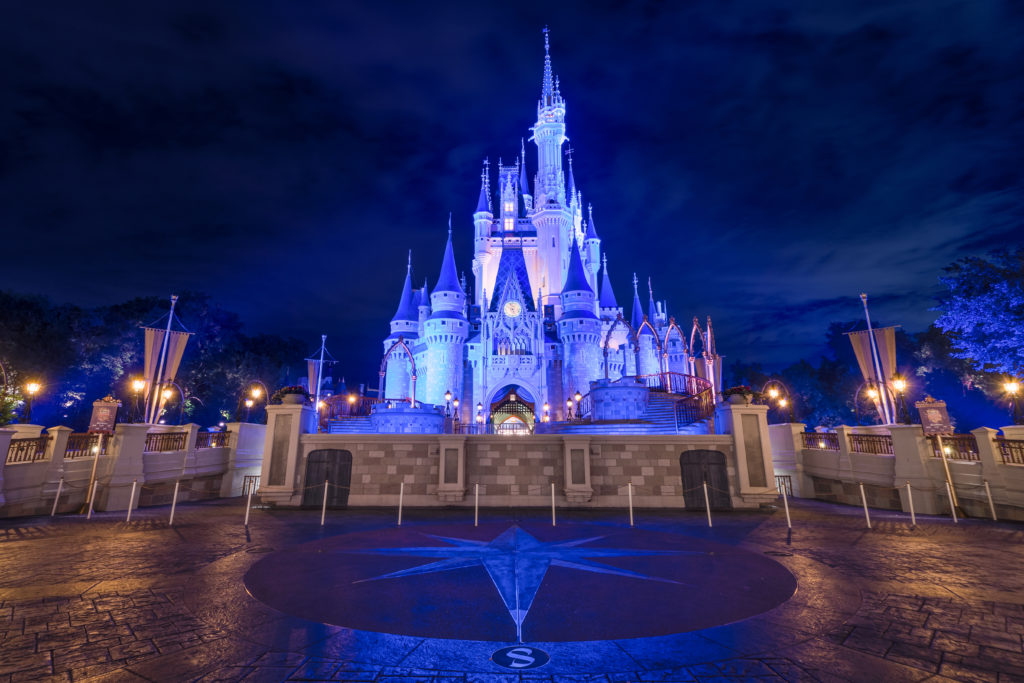 Magic Kingdom's Cinderella Castle at night