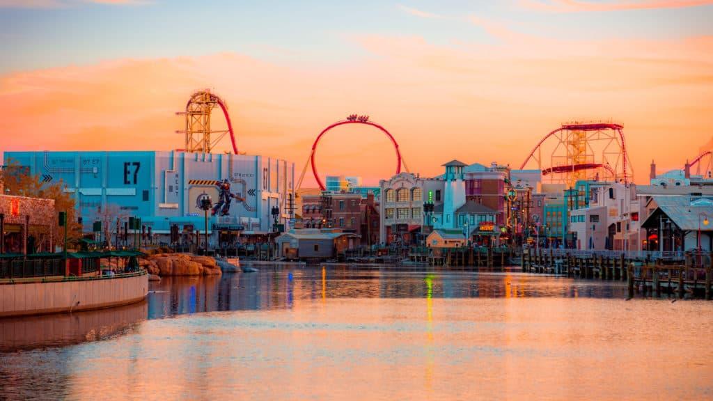 Universal Studios Florida evening lagoon view